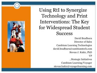 Using RtI to Synergize Technology and Print Interventions: The Key for Widespread Student Success
