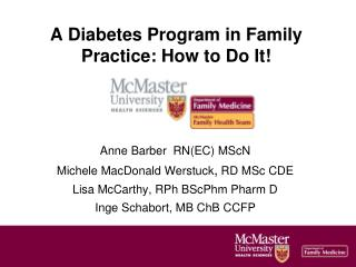 A Diabetes Program in Family Practice: How to Do It!