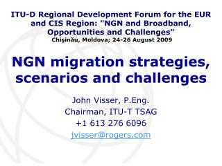 NGN migration strategies, scenarios and challenges
