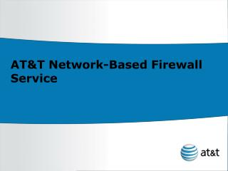 AT&T Network-Based Firewall Service