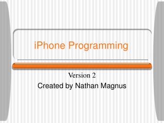 iPhone Programming