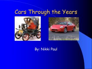 Cars Through the Years