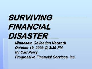 SURVIVING FINANCIAL DISASTER