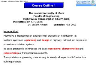 Course Outline 1