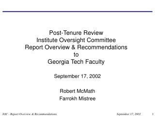 September 17, 2002 Robert McMath Farrokh Mistree