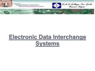 Electronic Data Interchange Systems