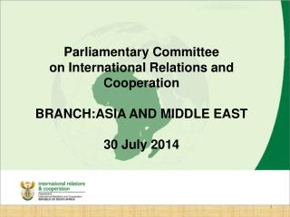 Branch  Asia and Middle East
