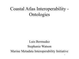 Coastal Atlas Interoperability - Ontologies