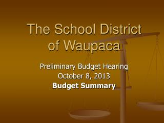 The School District of Waupaca