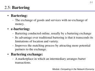 2.5: Bartering