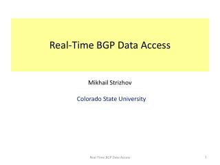 Real-Time BGP Data Access