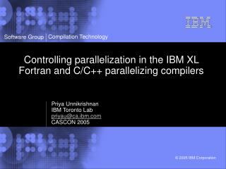 Controlling parallelization in the IBM XL Fortran and C/C++ parallelizing compilers