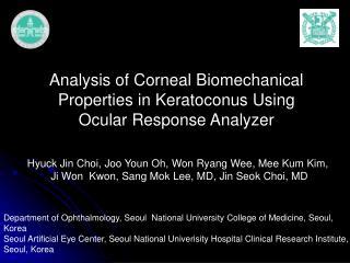 Analysis of Corneal Biomechanical Properties in Keratoconus Using Ocular Response Analyzer