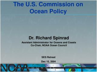 The U.S. Commission on  Ocean Policy