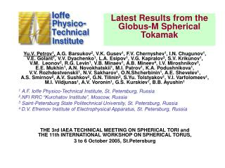 Latest Results from the Globus-M Spherical Tokamak