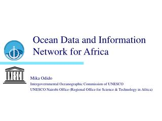 Ocean Data and Information Network for Africa