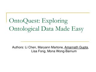 OntoQuest: Exploring Ontological Data Made Easy