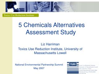 5 Chemicals Alternatives Assessment Study
