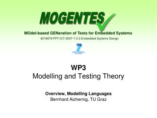 WP3 Modelling and Testing Theory