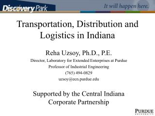 Transportation, Distribution and Logistics in Indiana