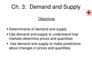 Ch. 3:  Demand and Supply