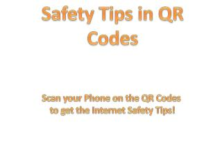Safety Tips in QR Codes
