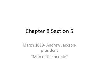 Chapter 8 Section 5