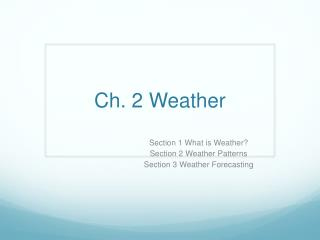 Ch. 2 Weather