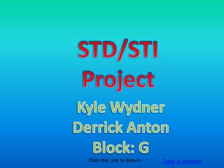 STD/STI Project