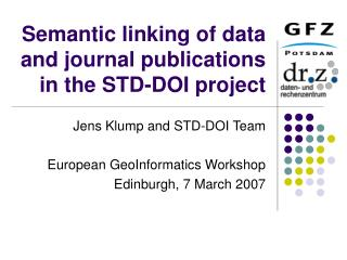 Semantic linking of data and journal publications in the STD-DOI project