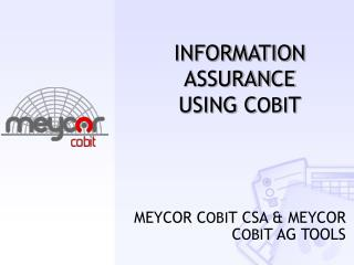INFORMATION ASSURANCE USING C OBI T