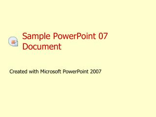 Sample  PowerPoint  07  Document