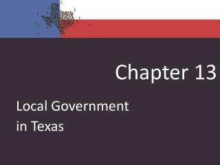 Local Government in Texas