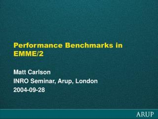 Performance Benchmarks in EMME/2
