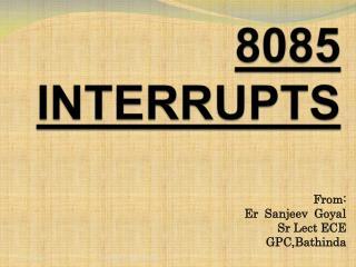 8085  INTERRUPTS