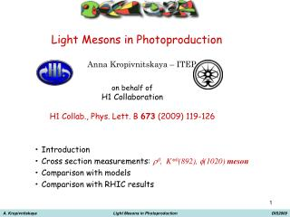 Light Mesons in Photoproduction