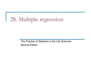28. Multiple regression