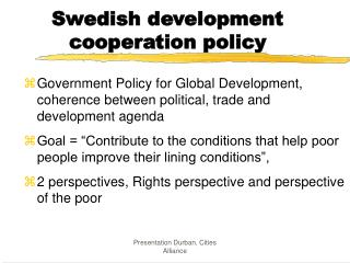 Swedish development cooperation policy