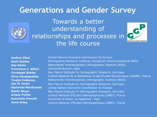 Generations and Gender Survey