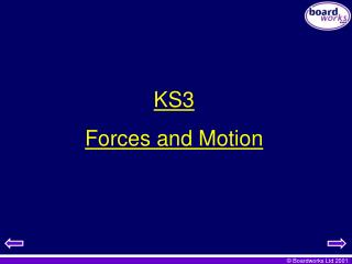 KS3  Forces and Motion