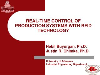 REAL-TIME CONTROL OF PRODUCTION SYSTEMS WITH RFID TECHNOLOGY