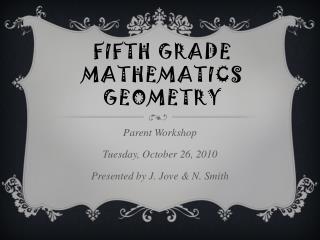Fifth Grade Mathematics Geometry