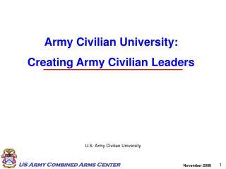 U.S. Army Civilian University