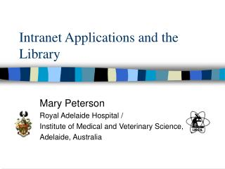 Intranet Applications and the Library