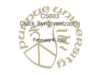 CS603 Clock Synchronization