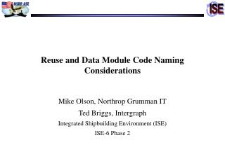 Reuse and Data Module Code Naming Considerations