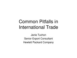 Common Pitfalls in International Trade