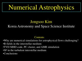 Numerical Astrophysics