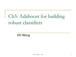 Ch5: Adaboost for building robust classifiers