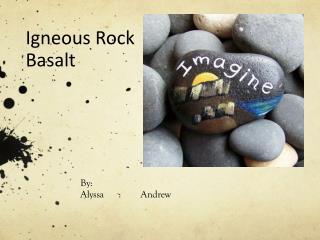 Igneous Rock Basalt